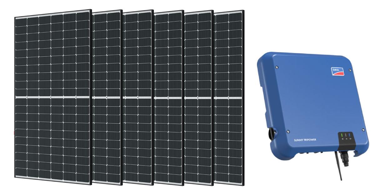 10 kW saules PV paneļu sistēma